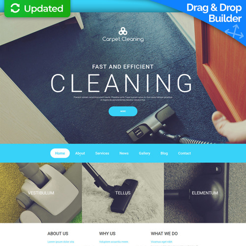 Carpet Clearing - MotoCMS 3 Template based on Bootstrap