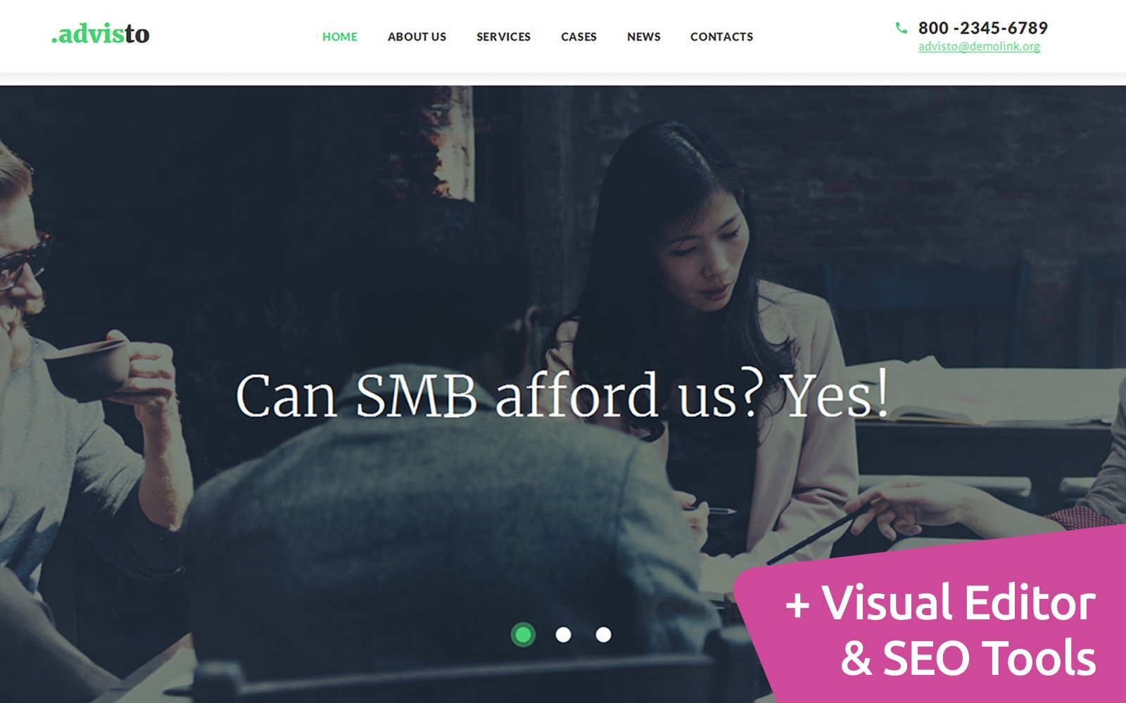 """""""Consulting Firm"""" 响应式Moto CMS 3 模板 #59171"""