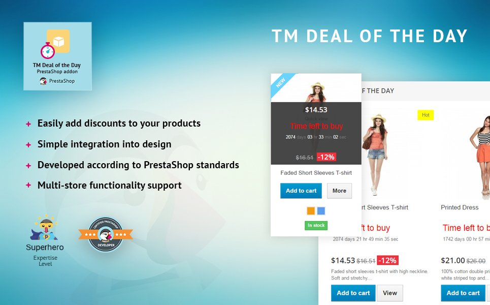 Deal Of The Day Prestashop Module 59125