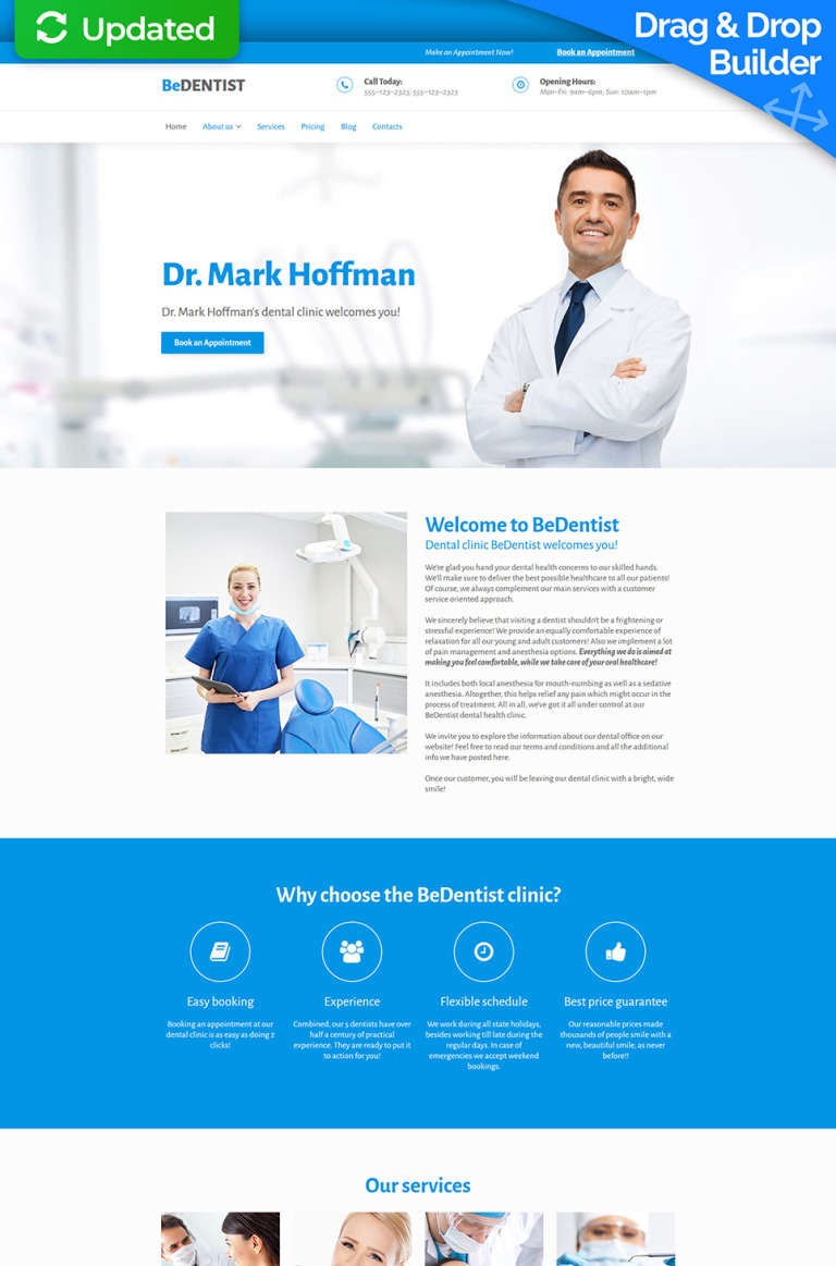 Dentistry Responsive Moto CMS 3 Template New Screenshots BIG