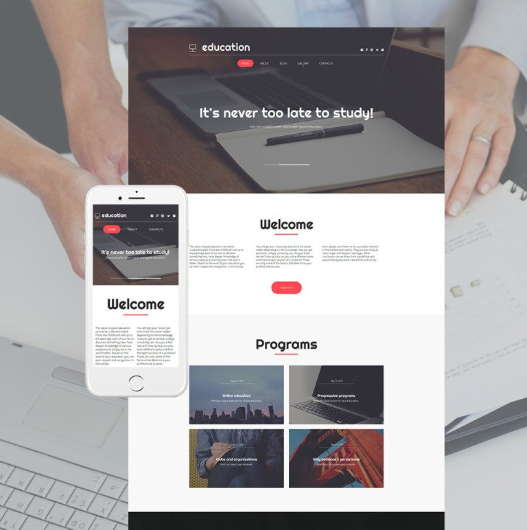 Education Moto CMS HTML Template New Screenshots BIG