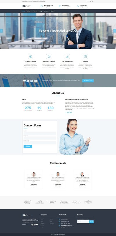 Financial Advisor Responsive Moto CMS 3 Template #59172