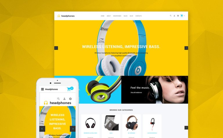 Headphones - Responsive Audio store OpenCart template + RTL New Screenshots BIG