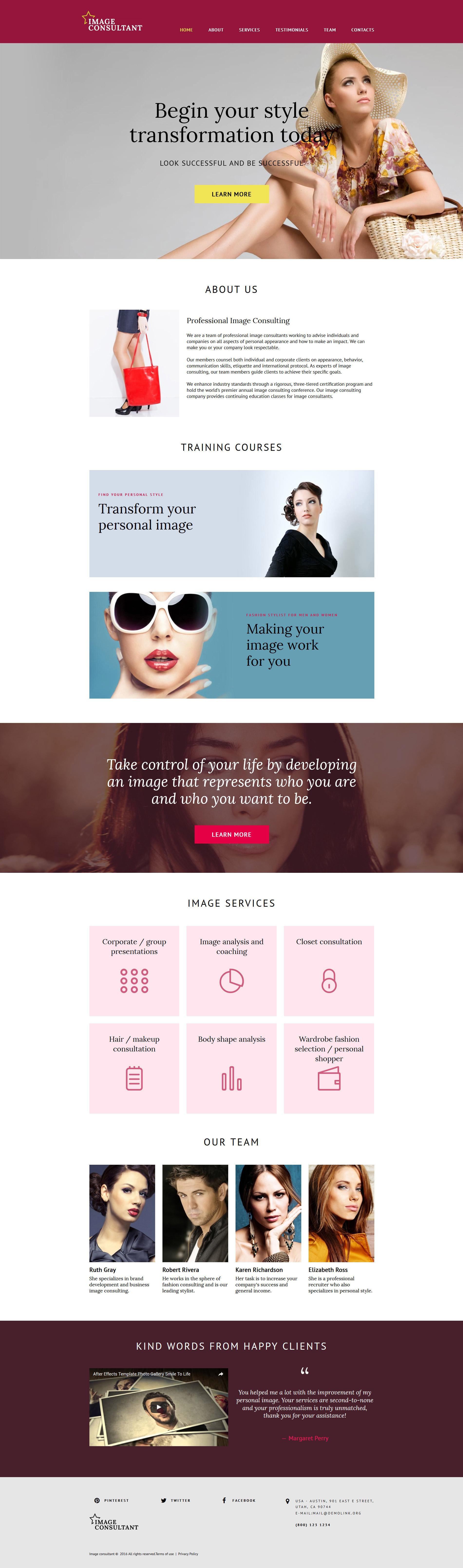 Fashion Website Templates | TemplateMonster