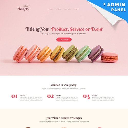 Bakery - Landing Page Template based on Bootstrap