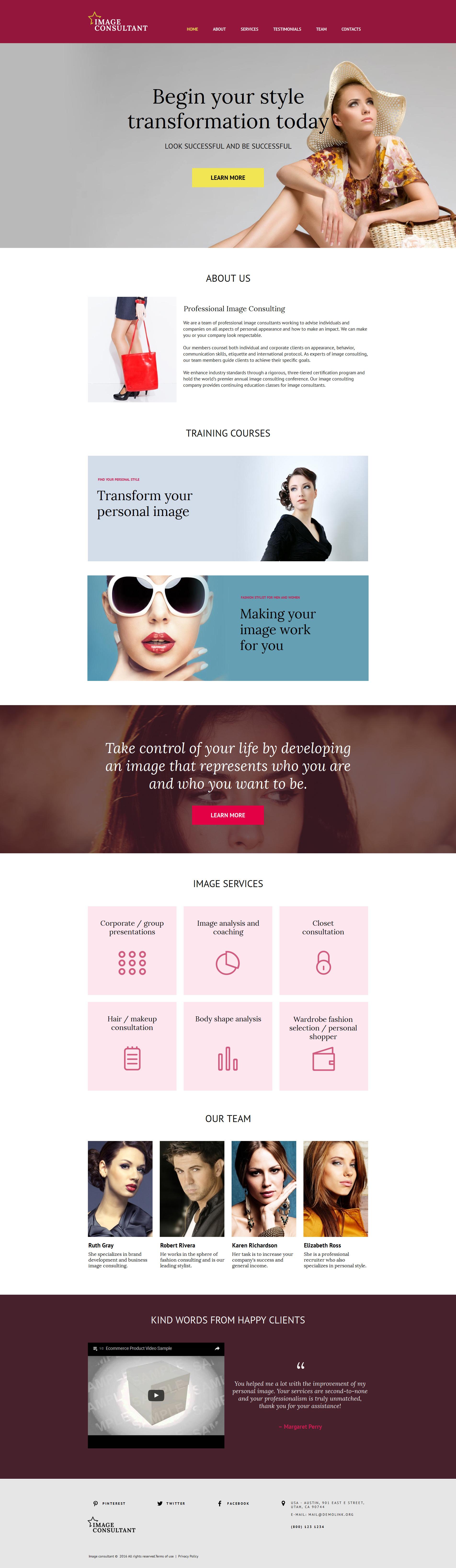 Modèle Moto CMS HTML Premium pour site de mode #59162