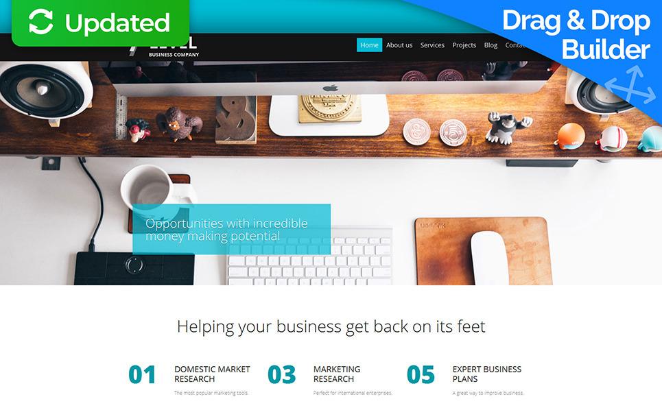 Moto CMS 3 Template für Business und Dienstleistungen New Screenshots BIG