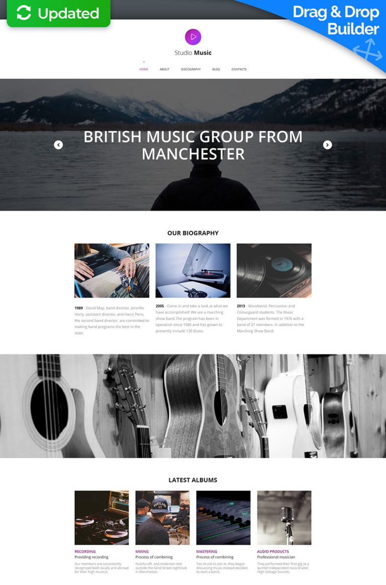 Music Band Responsive Moto CMS 3 Template New Screenshots BIG