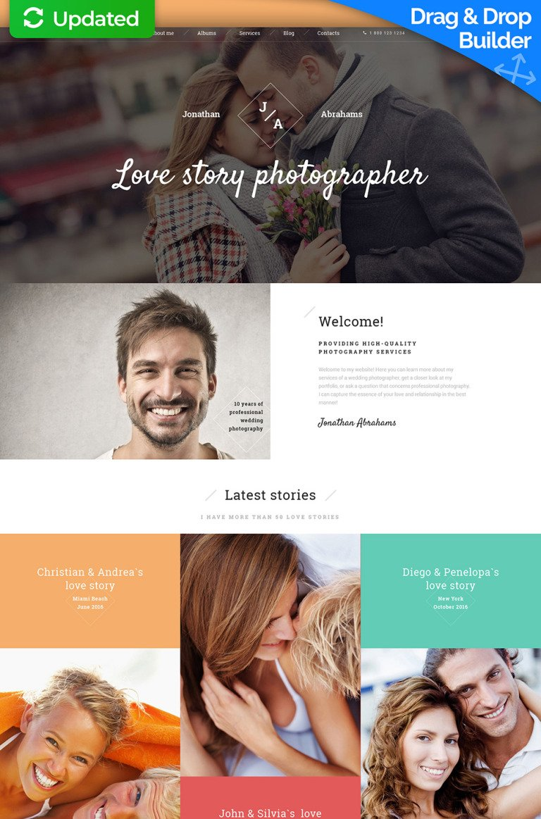 Photographer Portfolio Responsive Moto CMS 3 Template New Screenshots BIG