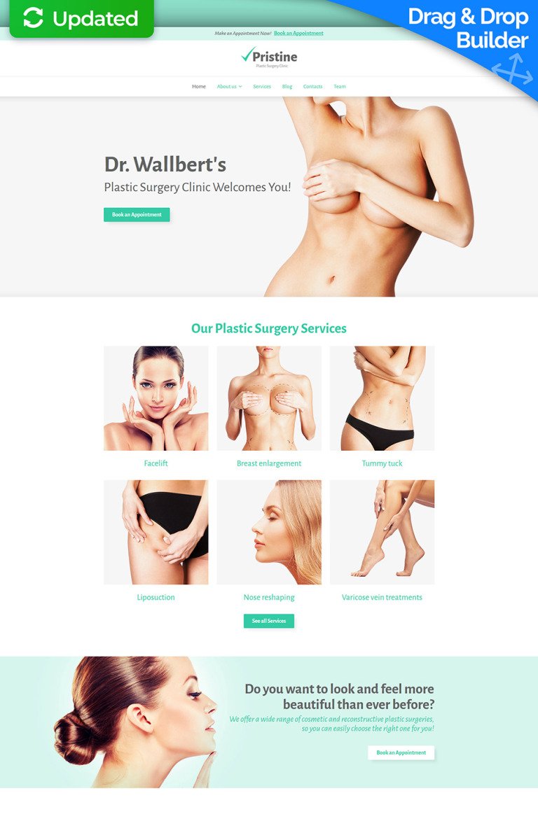 Plastic Surgery Responsive Moto CMS 3 Template New Screenshots BIG