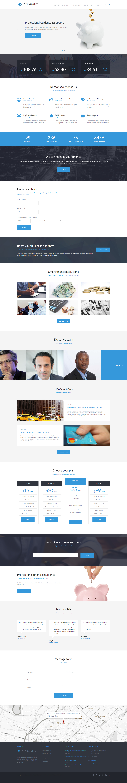"""Profit Consulting - Financial Advisor"" thème WordPress adaptatif #59153"