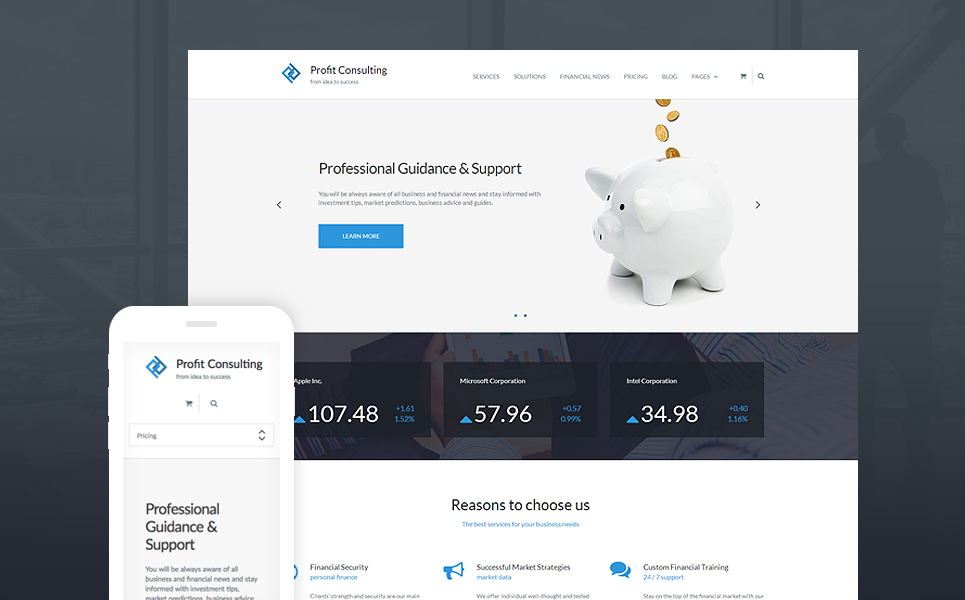 Profit Consulting – Professional Financial Advisor WordPress Theme