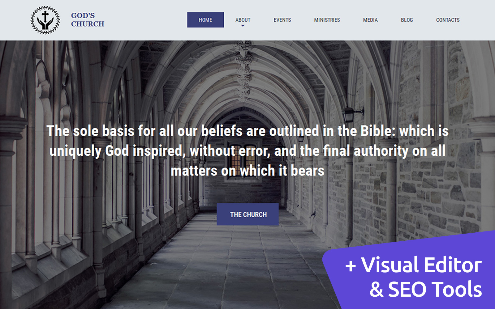 Responsive God's Church Moto Cms 3 #59169