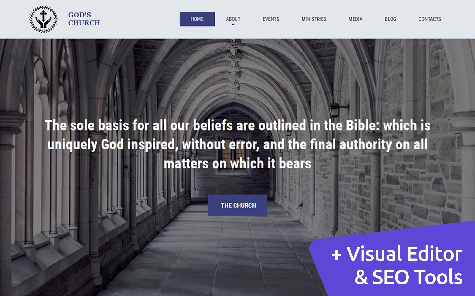 Responsive God's Church Moto Cms 3 #59169