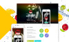 Responsive Joomla Template over Fitness New Screenshots BIG