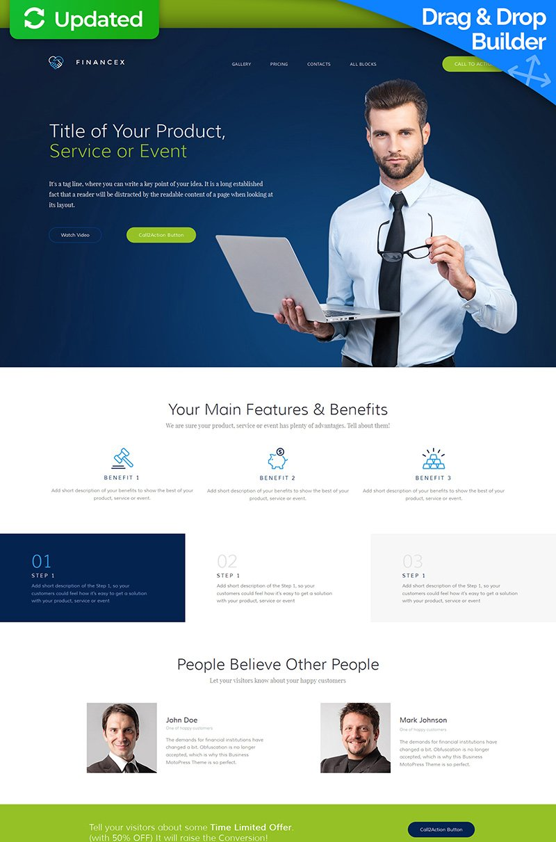 Responsivt Landing Page-mall #59191