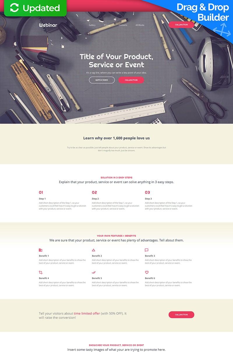 Responsywny szablon Landing Page #59195 na temat: tworzenie stron internetowych - zrzut ekranu