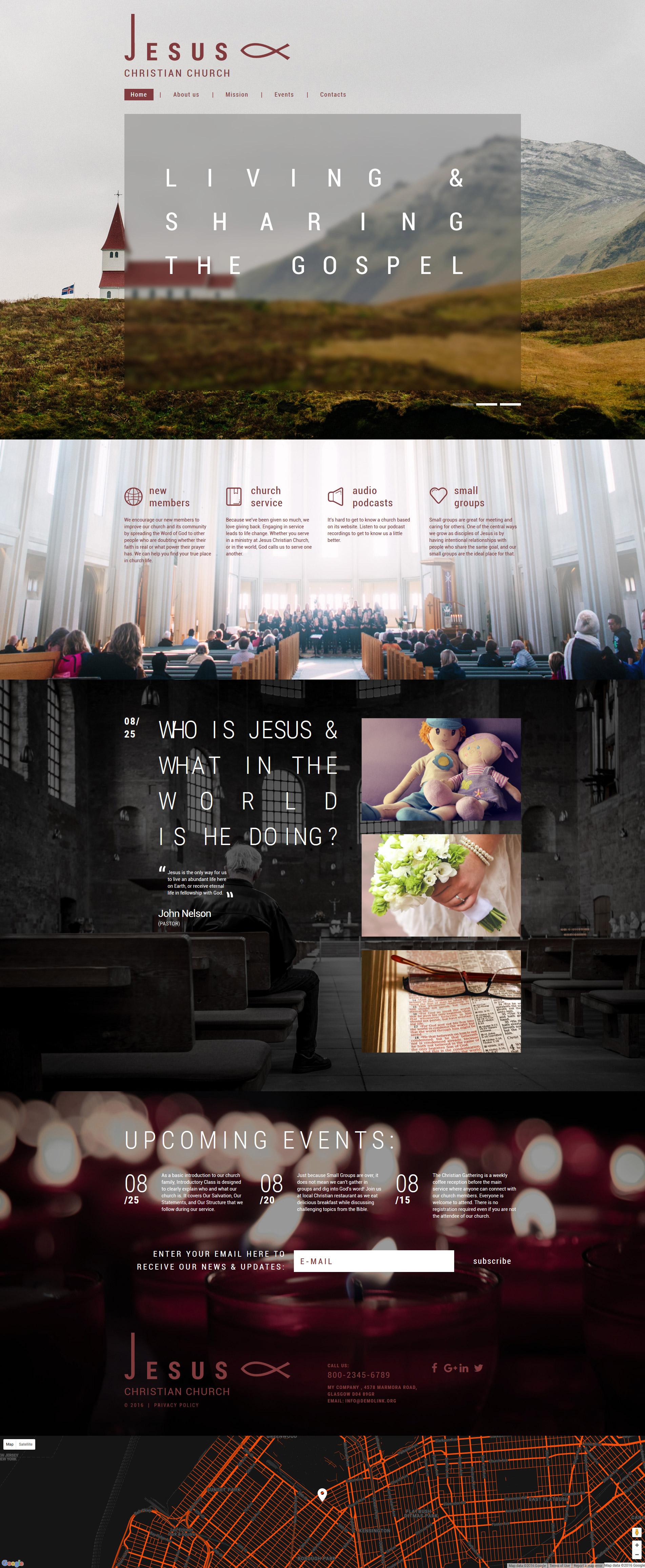 Responzivní Šablona webových stránek na téma Křesťanství #59154