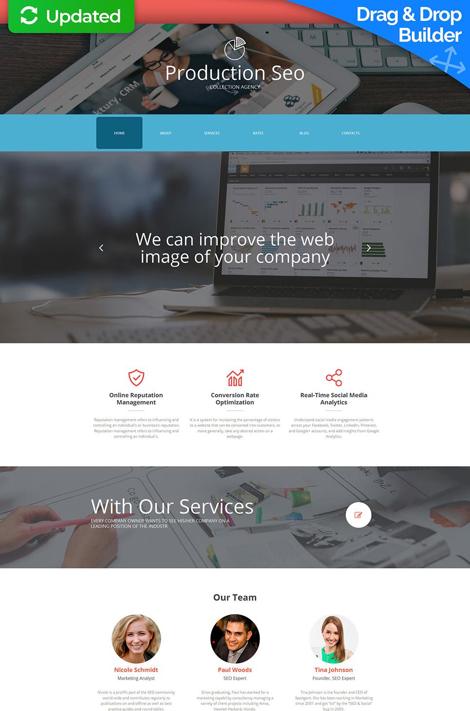 SEO Website Responsive Moto CMS 3 Template #59139