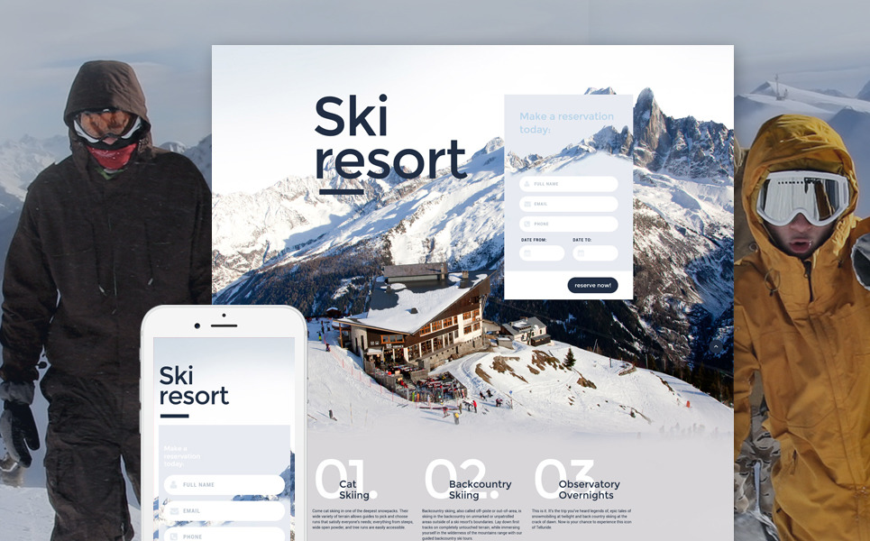 Skiing Responsive Landing Page Template New Screenshots BIG