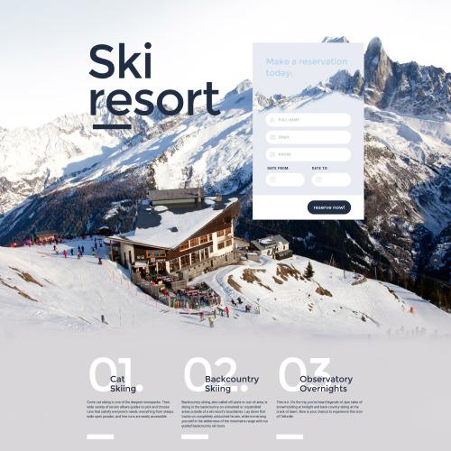 Ski Resort - Responsive Landing Page Template