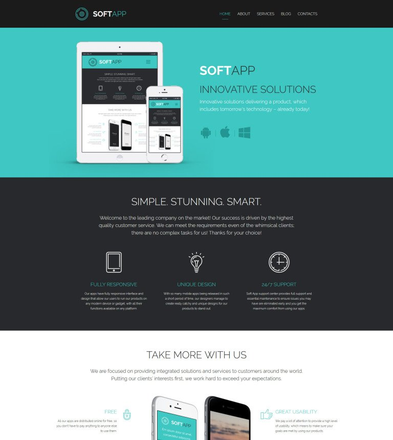 Software company website template software responsive website template new screenshots big pronofoot35fo Image collections