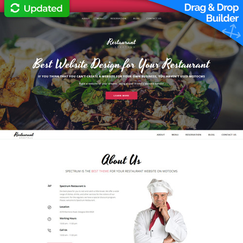 Restaurant - MotoCMS 3 Template based on Bootstrap