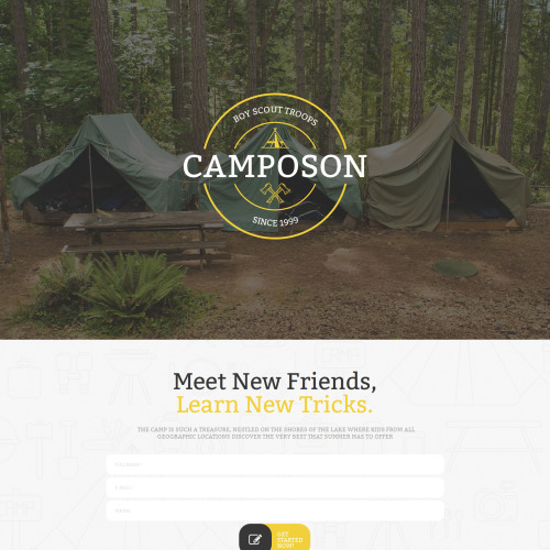 Camposon - MotoCMS 3 Template based on Bootstrap