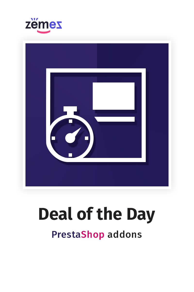 "Template Modulo PrestaShop #59125 ""Deal of the Day"""