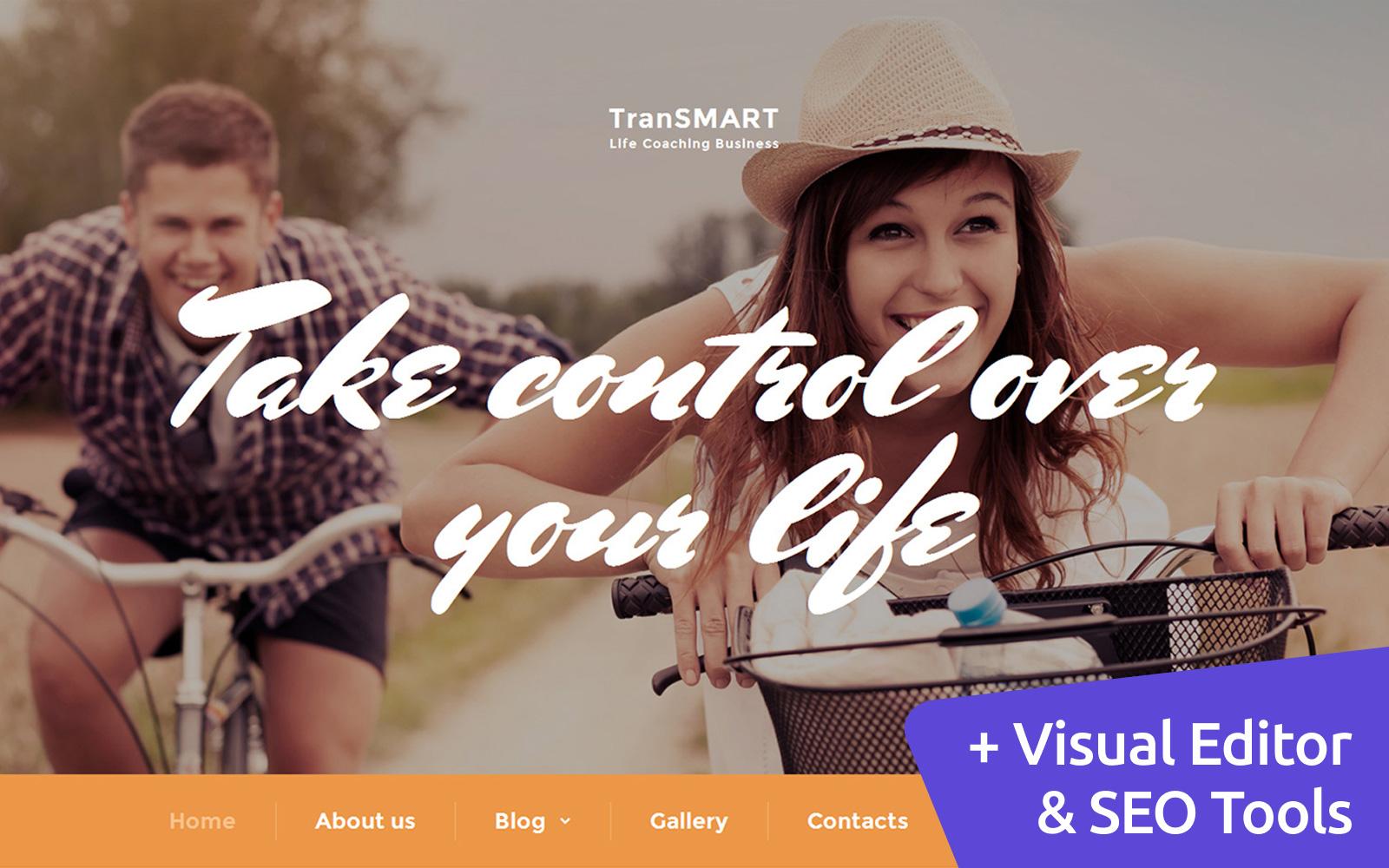 TranSMART - Life Coach Templates Moto CMS 3 №59113