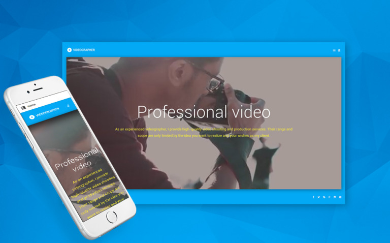Videographer Joomla Template New Screenshots BIG
