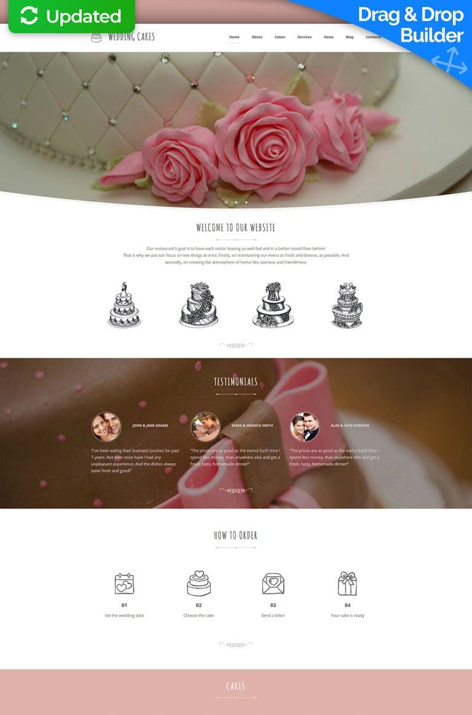 Wedding Cake Responsive Moto CMS 3 Template New Screenshots BIG