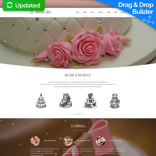 Wedding Cake - MotoCMS 3 Template based on Bootstrap