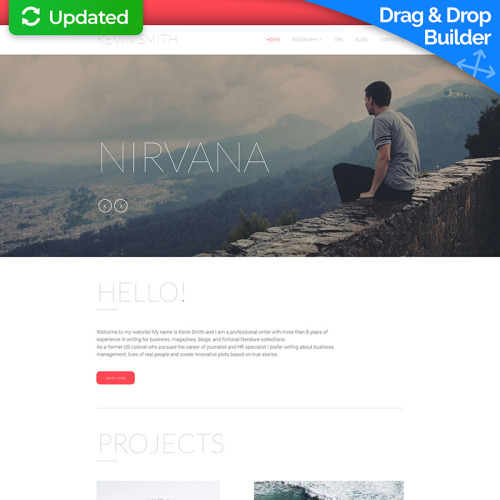 Nirvana - MotoCMS 3 Template based on Bootstrap