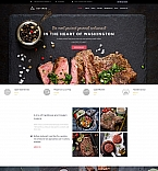 Cafe & Restaurant Moto CMS 3  Template 59219