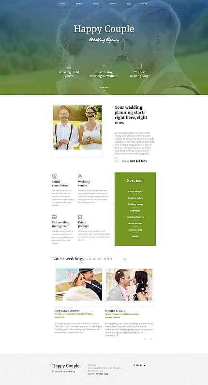 ADOBE Photoshop Template 59221 Home Page Screenshot