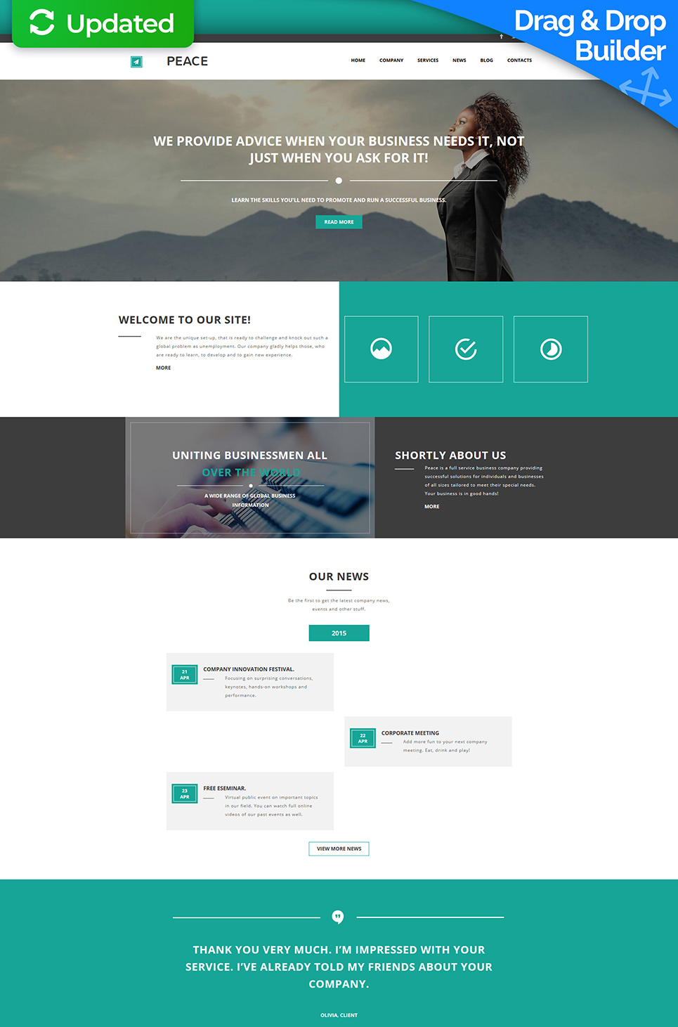 Peace Responsive Website Template - image