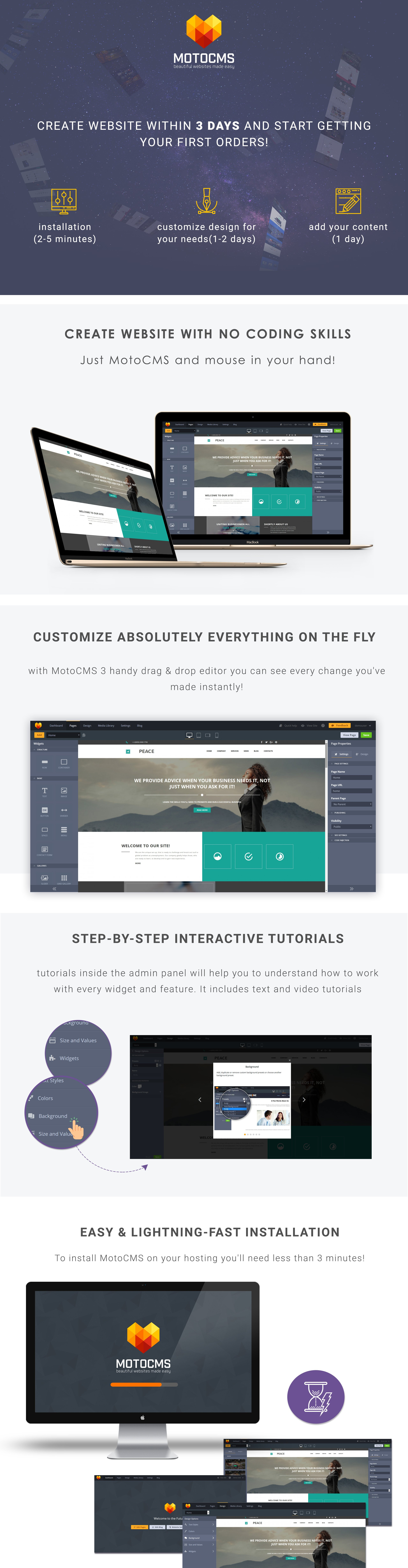 Business and Consulting Moto CMS 3 Template