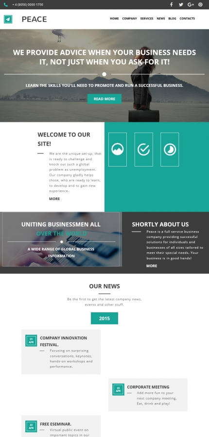 ADOBE Photoshop Template 59223 Home Page Screenshot