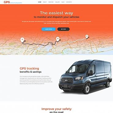 Купить Шаблон сайта транспортной компании. Купить шаблон #59225 и создать сайт.