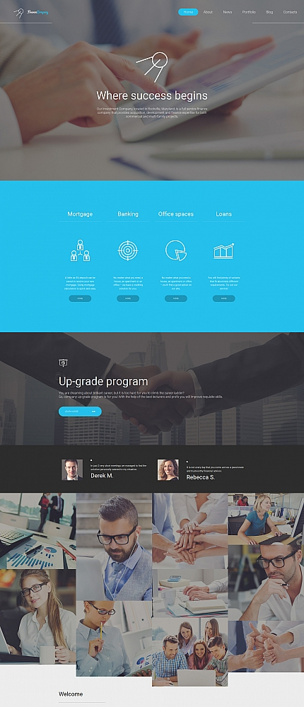 ADOBE Photoshop Template 59226 Home Page Screenshot