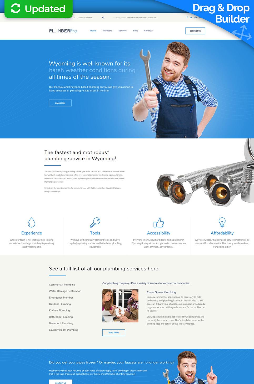 Plumber Pro Responsive Website Template - image