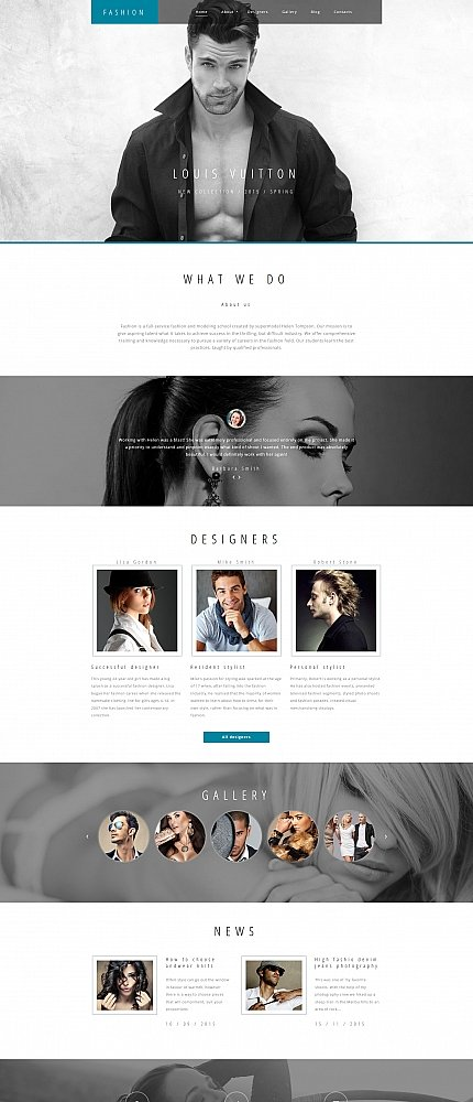ADOBE Photoshop Template 59232 Home Page Screenshot