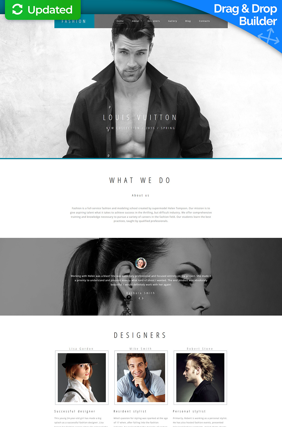 Brand Designers Responsive Website Template - image