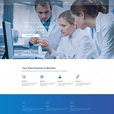 Best Premium Medical Landing Page Templates In - Medical landing page template