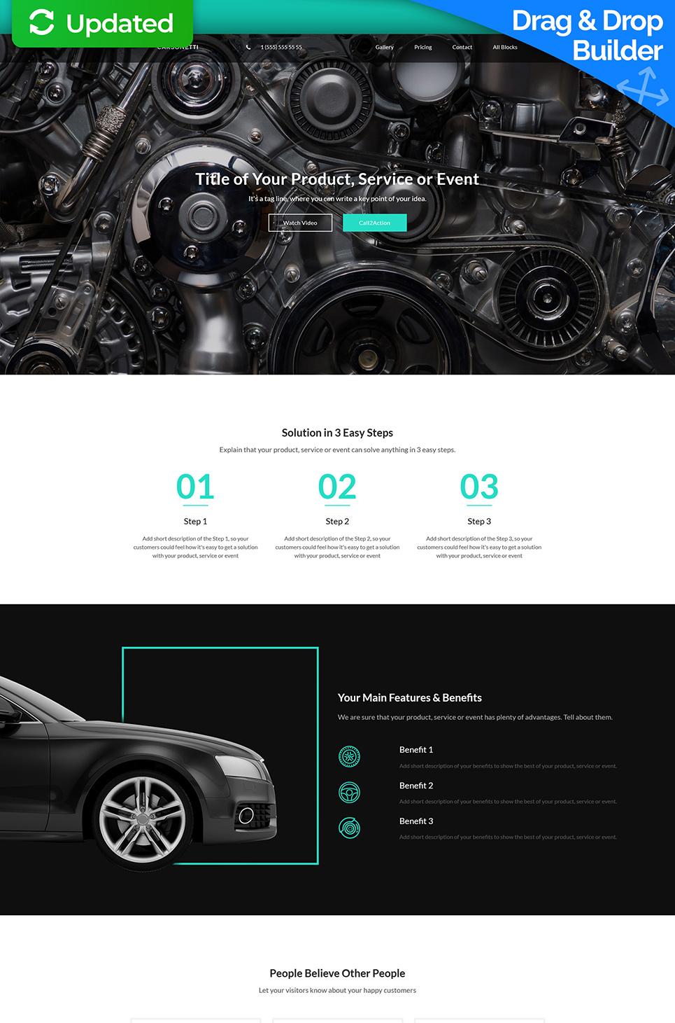 Plantilla Landing Page ideal automoción, taller mecánico, auto ...