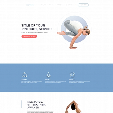 Preview image of Sport Landing Page Template No. 59246