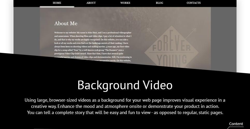 Videographer Responsive Website Template #59255