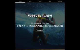Videographer Responsive Website Template