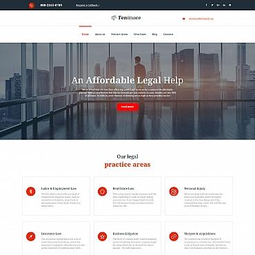 Купить MotoCMS 3 шаблон сайта юридической фирмы - Fenimore. Купить шаблон #59259 и создать сайт.